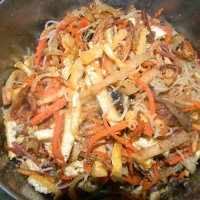 Recipe: Bi Chay - Vegetarian shredded tofu mixture  for spring rolls
