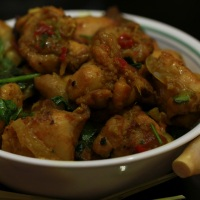 Ga Xao Xa Ot - Stir Fry Chicken with lemongrass