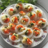 Recipe: Banh Beo Chay - Vegan Steamed  Rice Cakes