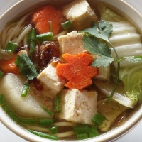 Mi Chay - Noodle soup with tofu and vegetables