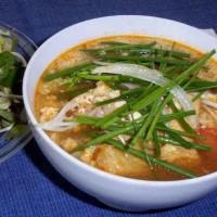 Bun Rieu Chay -  Vegan Tomato Tofu  Noodle Soup